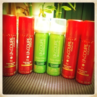 Free LaCoupe Hairspray and Mousse