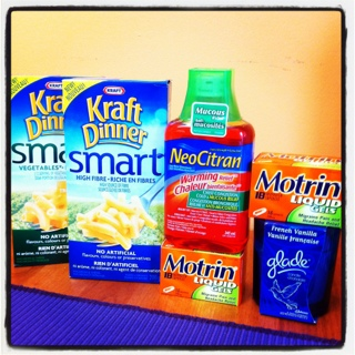 Cheap Smart Kraft Dinner, Motrin, Neocitrin & FREE Glade Candle